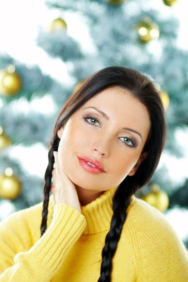 Beau Noël de jaune photographie stock