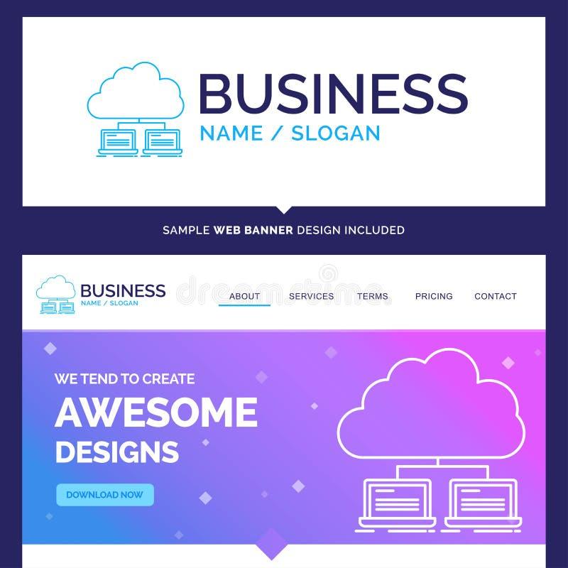 Beau nuage de marque de concept d'affaires, réseau, serveur, dedans illustration stock