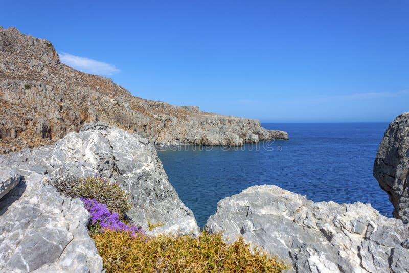 Beau panorama chez Lendas, Crète photo libre de droits