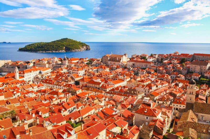 Beau panorama de Dubrovnik, Croatie photos libres de droits