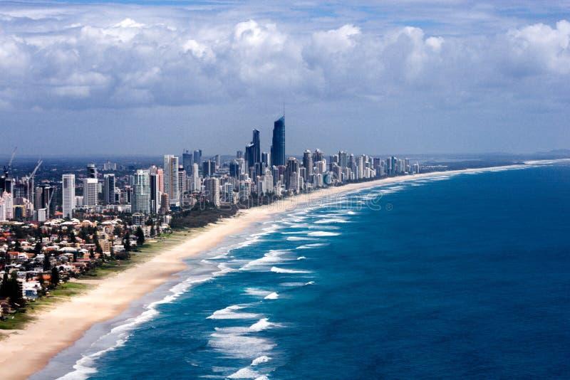Beau panorama de la ville de Gold Coast photos stock