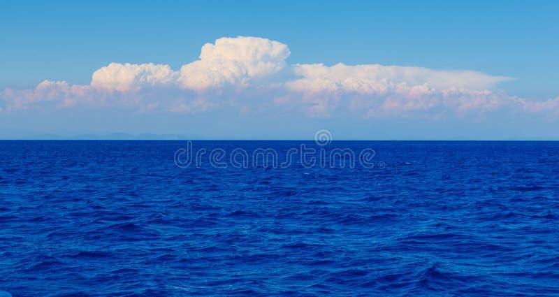 Beau panorama de paysage marin Composition de la nature photographie stock