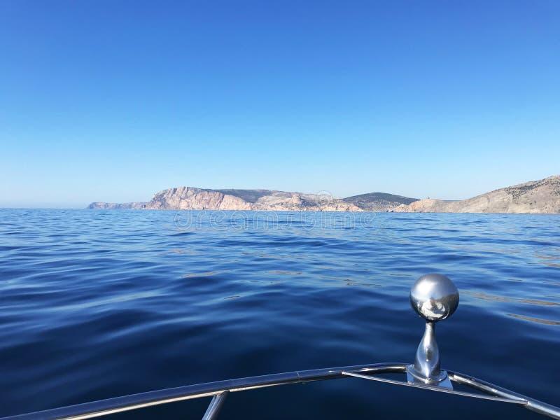 Beau panorama de paysage marin de mer Composition de nature en Crimée photo stock