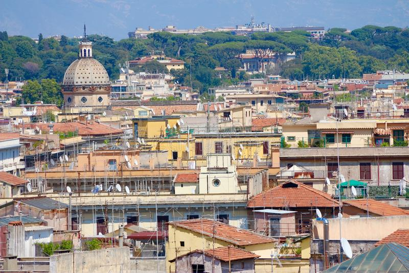 Beau panorama de Rome et belle vue photos stock