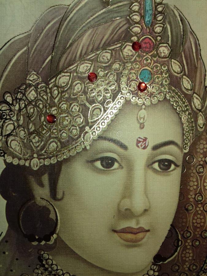 Beau papier peint de visage doux krishan de Bhagwan photographie stock libre de droits