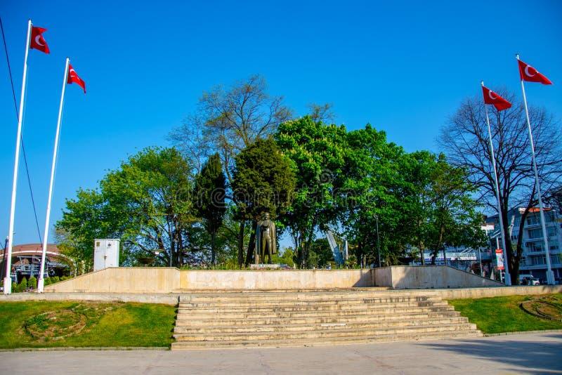 Beau parc dans la ville d'Ordu en Turquie photo stock