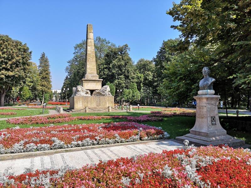 Beau parc public de ville d'Iasi, Roumanie photo libre de droits