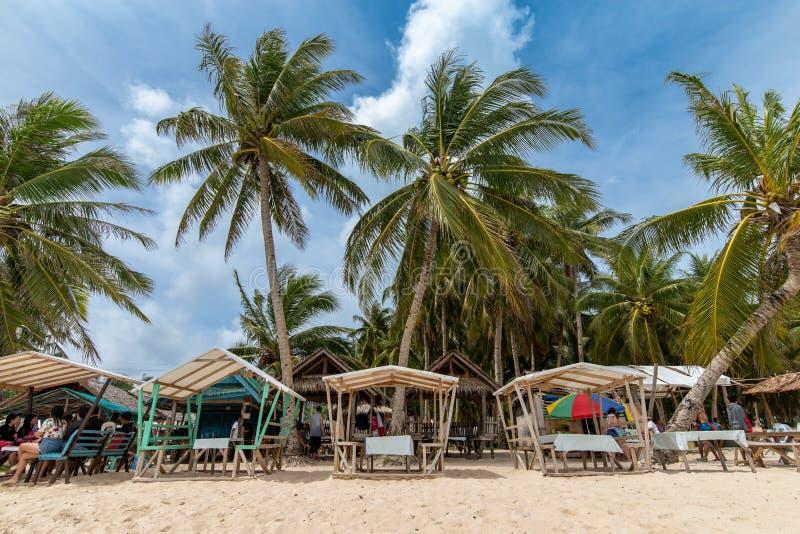 Beau paysage à l'île de Daku, Siargao image libre de droits