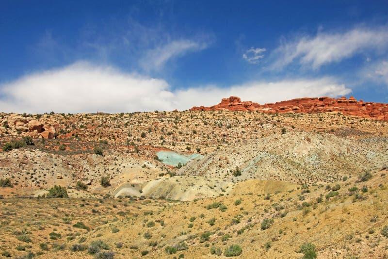 Beau paysage au parc national de voûtes en Utah, Etats-Unis photo stock