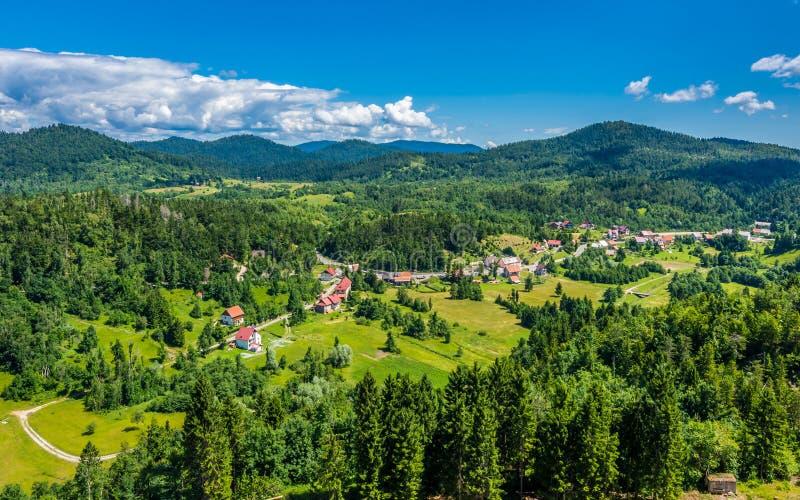 Beau paysage croate, Gorski kotar photo stock