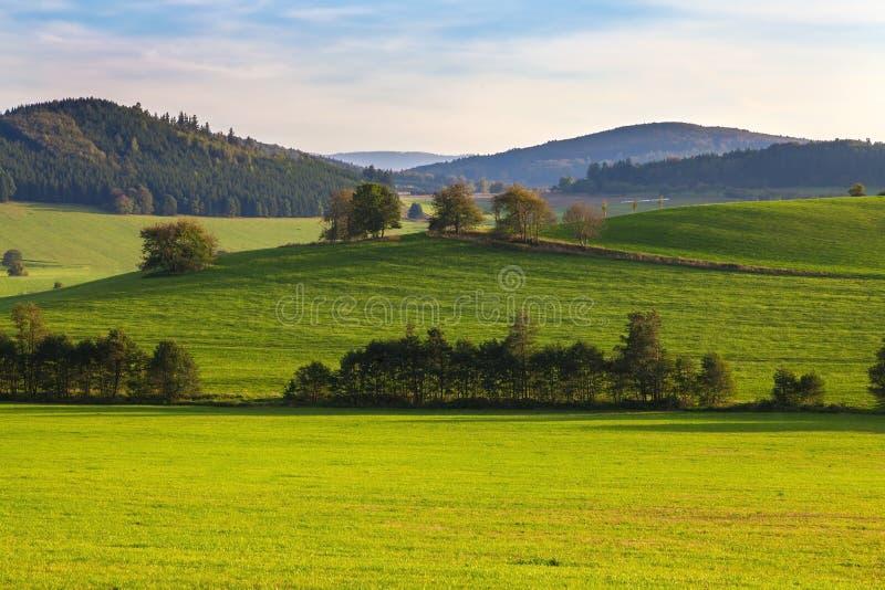 Beau paysage d'été, République Tchèque photographie stock libre de droits