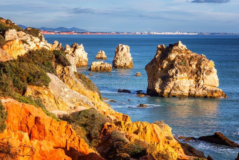 Beau paysage d'océan, la côte de l'Océan Atlantique, port images stock