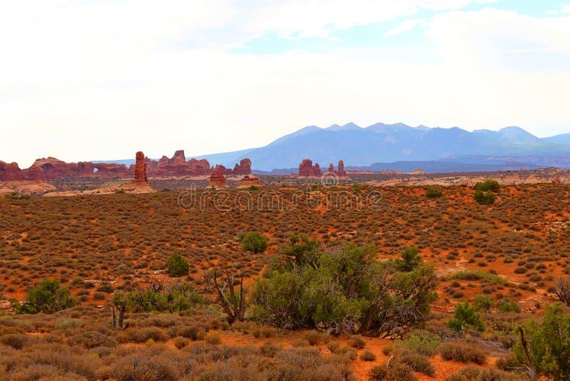 Beau paysage dans des couleurs naturelles au parc national de voûtes en Utah photo libre de droits
