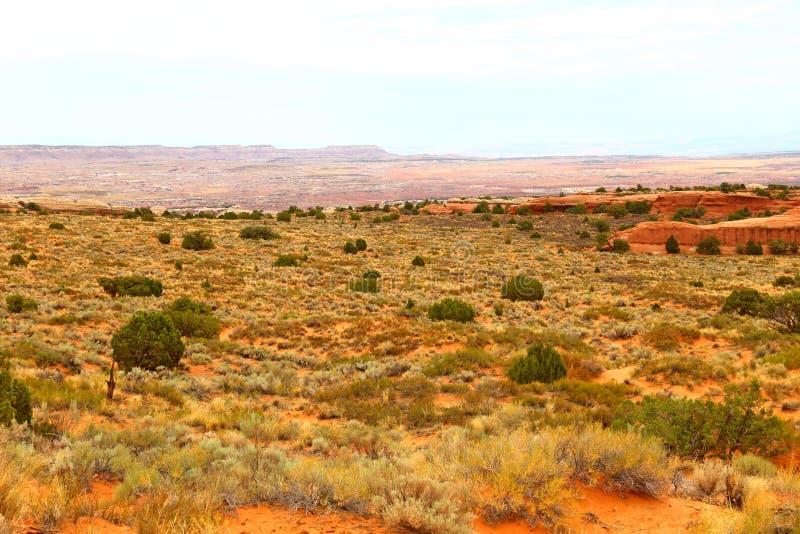 Beau paysage dans des couleurs naturelles au parc national de voûtes en Utah, photos stock
