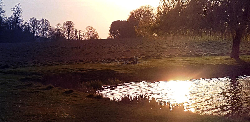 Beau paysage dans Hampstead, Londres, R-U photos stock