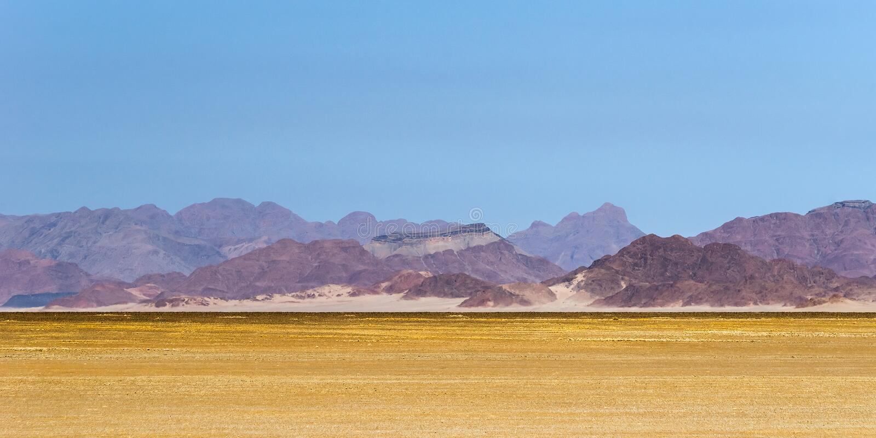 Beau paysage de désert en montagnes de Naukluft, Sossusvlei images stock