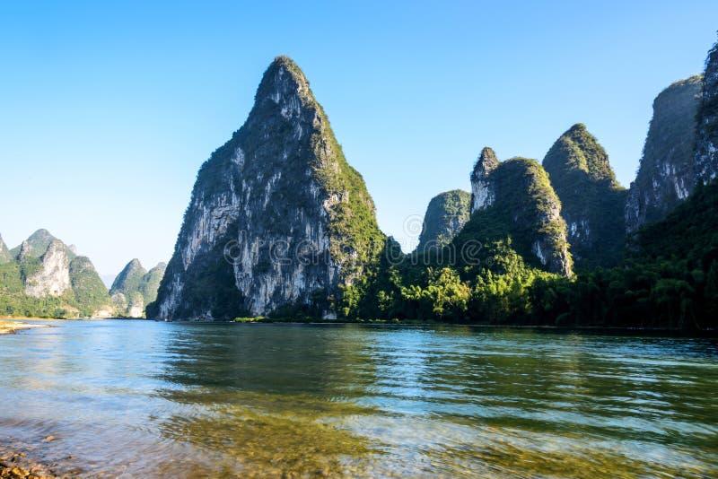 Beau paysage de fleuve de lijiang images libres de droits