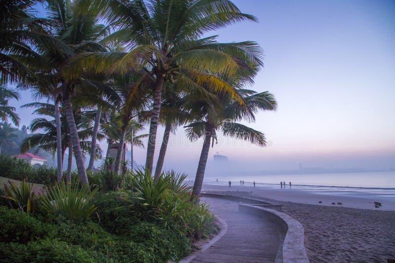 Beau paysage de lever de soleil tropical photographie stock