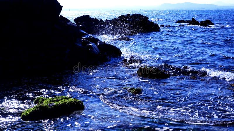 Beau paysage de mer d'Udo, ?le de Jeju images stock