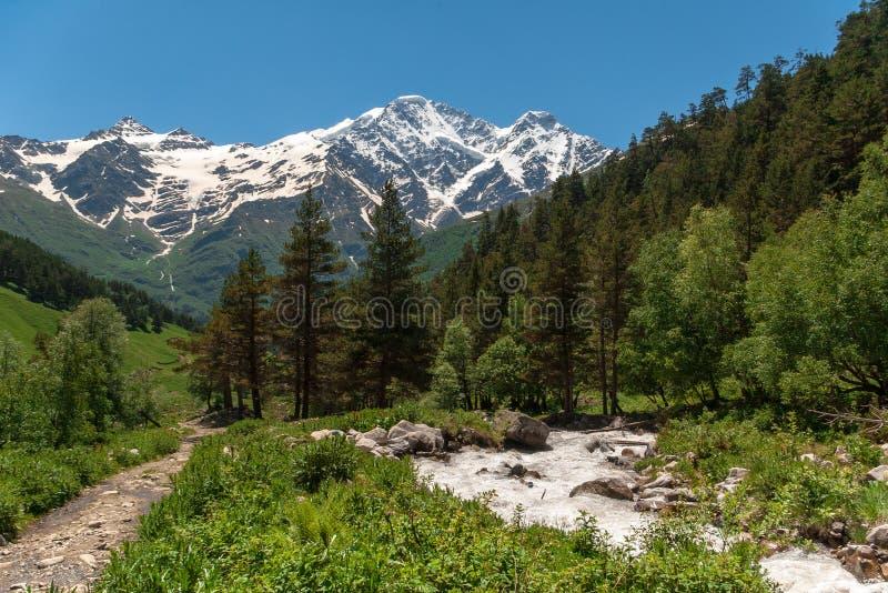 Beau paysage de montagne de Caucase photos libres de droits