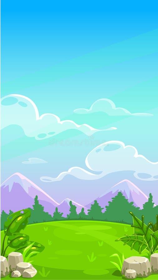 Beau paysage de pré de montagne illustration libre de droits