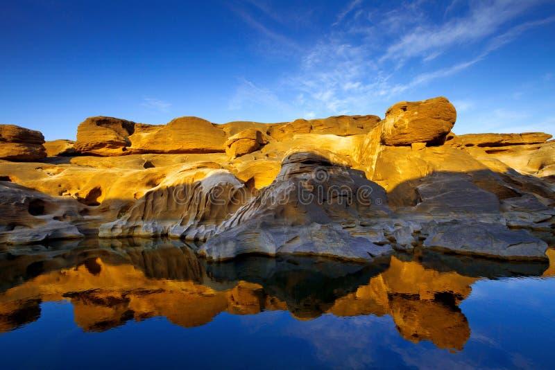 Beau paysage de Sam-casserole-Bok Grand Canyon, Ubon Ratchathani, photo libre de droits