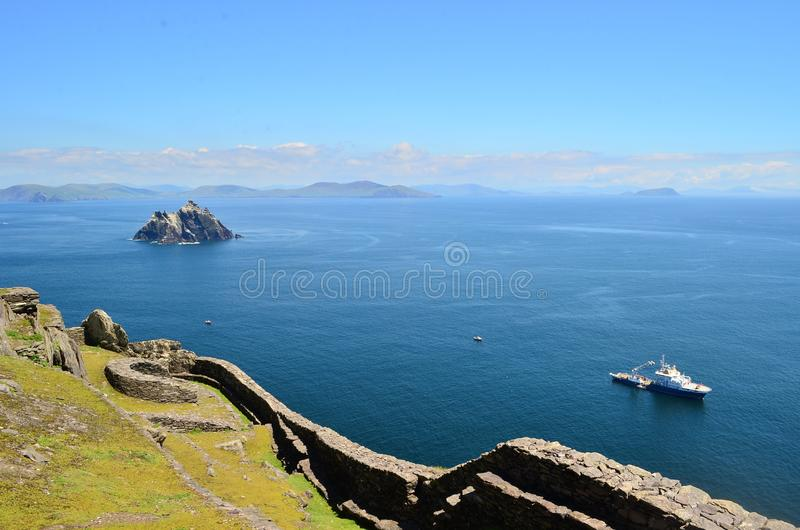 Beau paysage de skellig Micheal Kerry Irlande photos stock