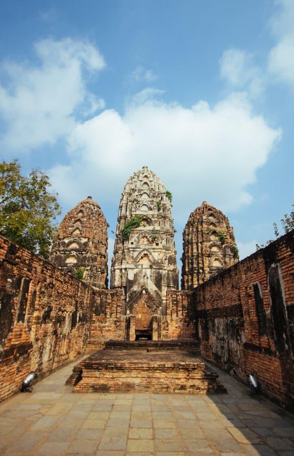 Beau paysage de temple antique dans le sukhothai-historypark, Sukhothai, Thaïlande image stock