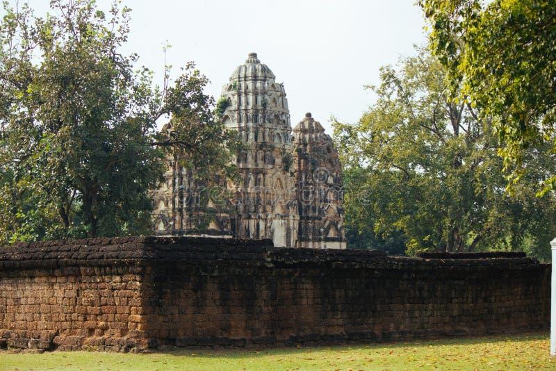 Beau paysage de temple antique dans le sukhothai-historypark, Sukhothai, Thaïlande photos stock