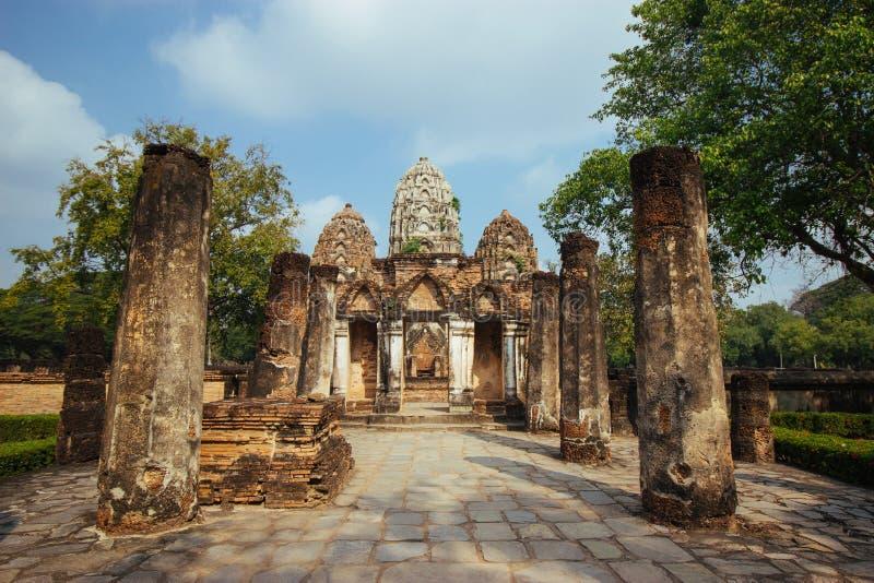 Beau paysage de temple antique dans le sukhothai-historypark, Sukhothai, Thaïlande photo libre de droits