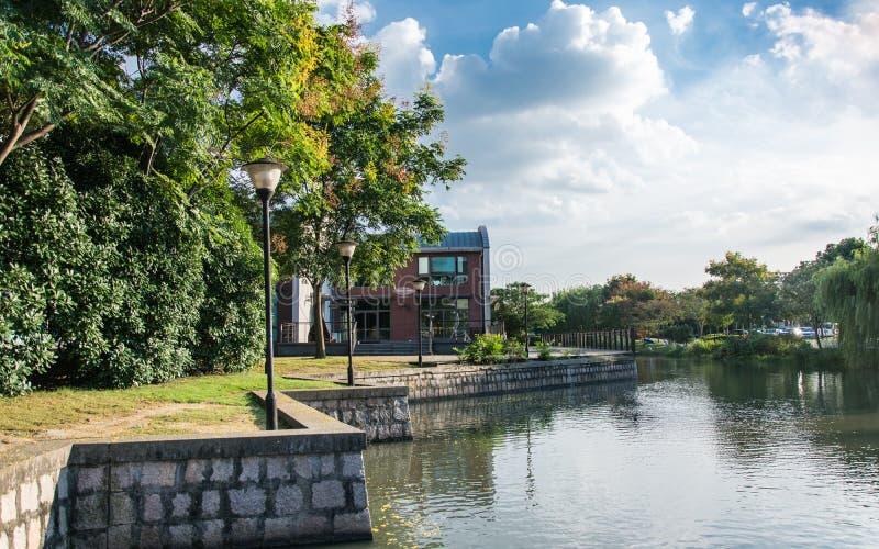 Beau paysage de ville de la Tamise ? Changha? photos libres de droits