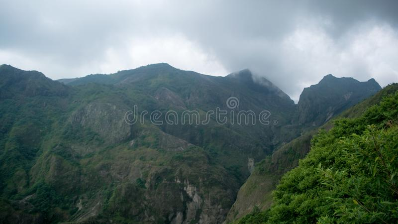 Beau paysage de volcan de Kelud image stock