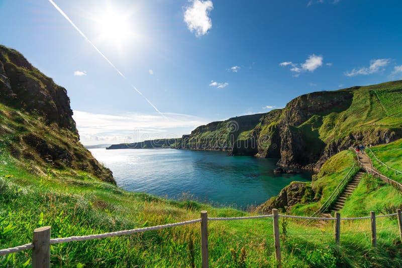 Beau paysage des falaises en Irlande, août 2016 images stock