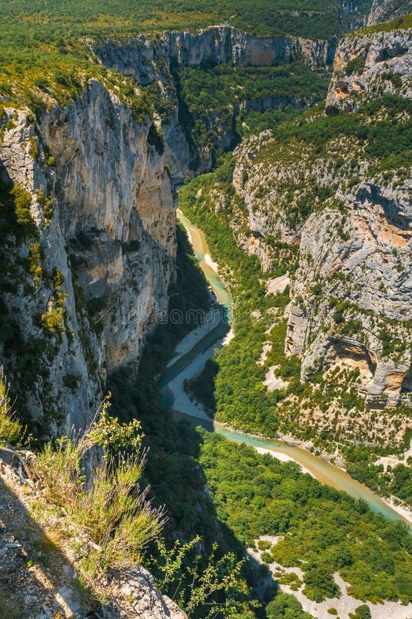 Beau paysage des gorges Du Verdon dans les Frances photographie stock libre de droits