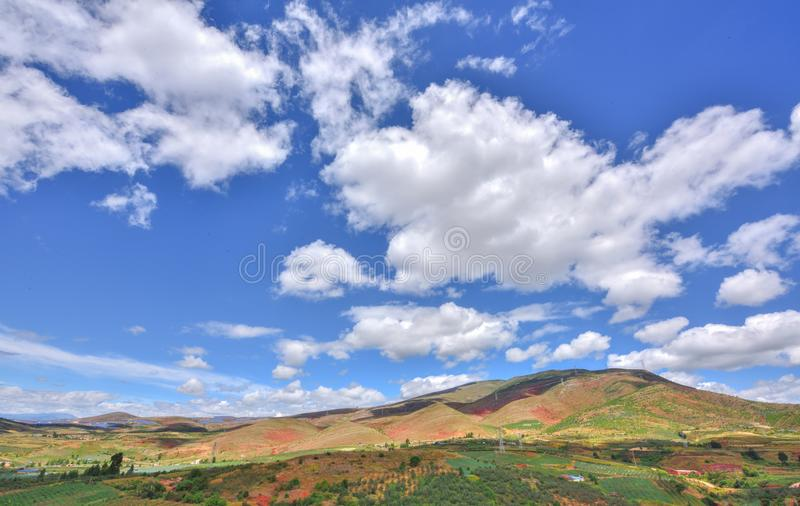 Beau paysage du plateau occidental de Sichuan photographie stock libre de droits