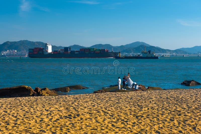 Beau paysage en île de Gulang photo libre de droits