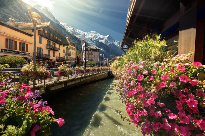 Beau paysage en Chamonix France Alps photographie stock