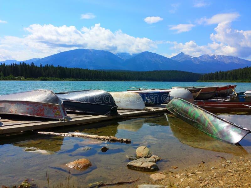 Beau paysage, jaspe de lac patricia image stock