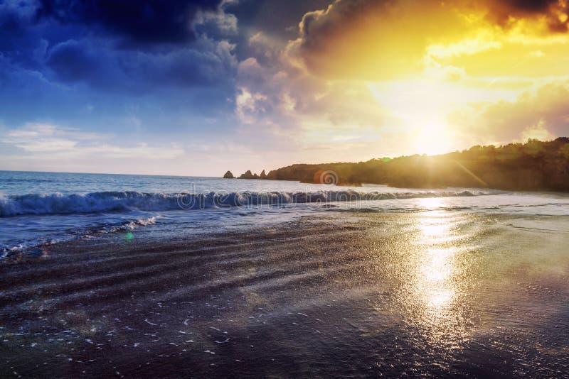 Beau paysage magique renversant d'océan, côte du Portugal, t photographie stock