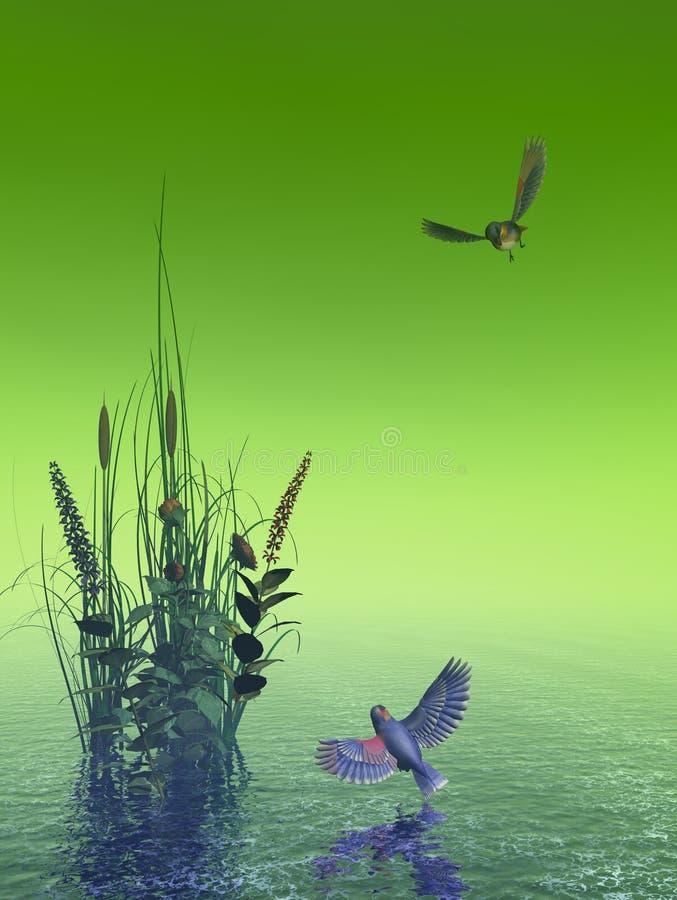 Beau paysage marin illustration libre de droits