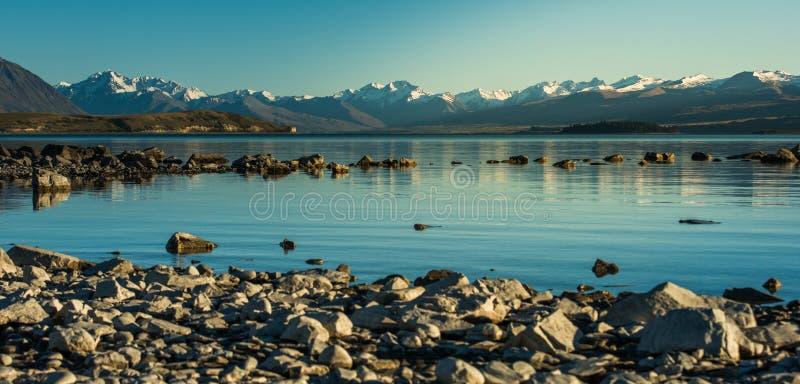 Beau paysage Nouvelle-Zélande. image libre de droits