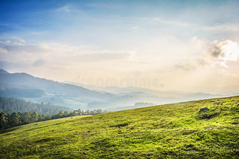 Beau paysage - ooty, Inde photos stock