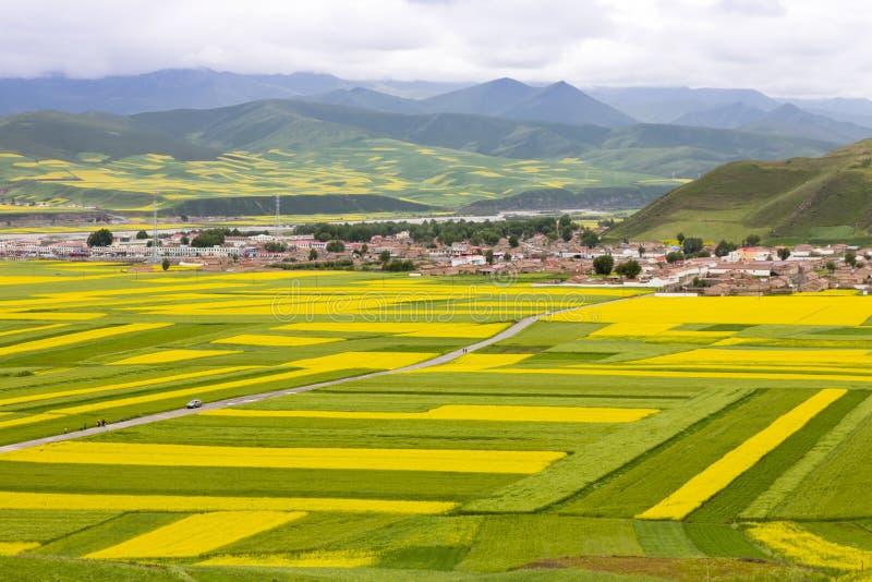 Beau paysage rural chinois image stock