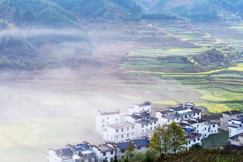 Beau paysage rural dans wuyuan photographie stock