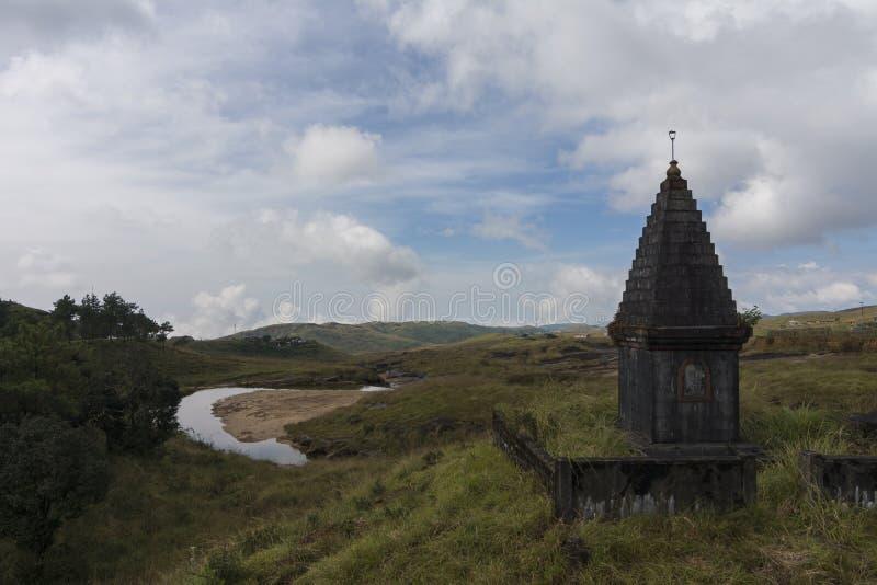 Beau paysage sur le chemin à Sohra près de Cherrapunjee, Meghalaya, Inde photo stock