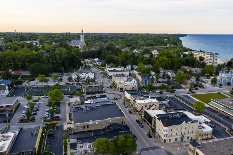 Beau Port Washington, le Wisconsin photo stock