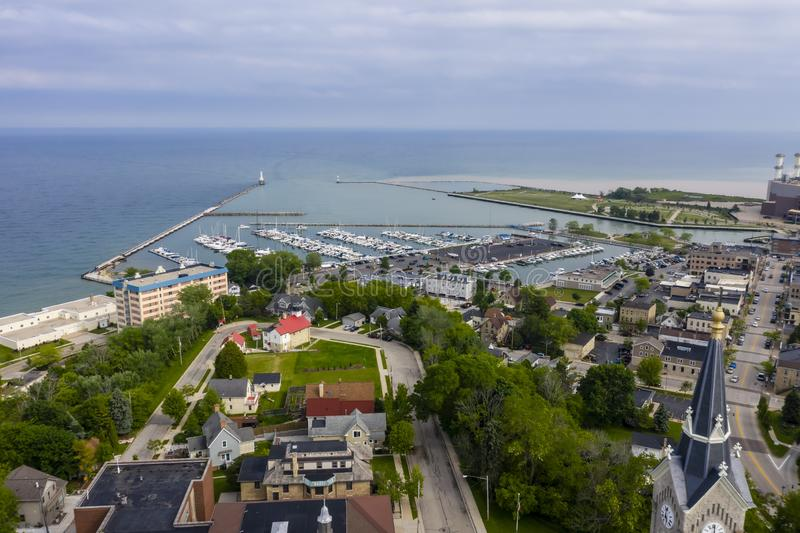 Beau Port Washington, le Wisconsin photographie stock