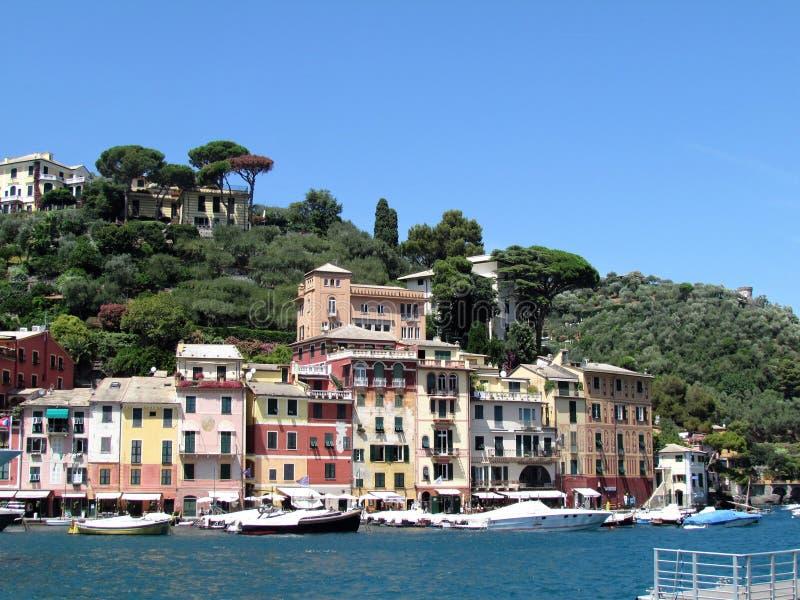 Beau Portofino l'Italie stupéfiante photos stock