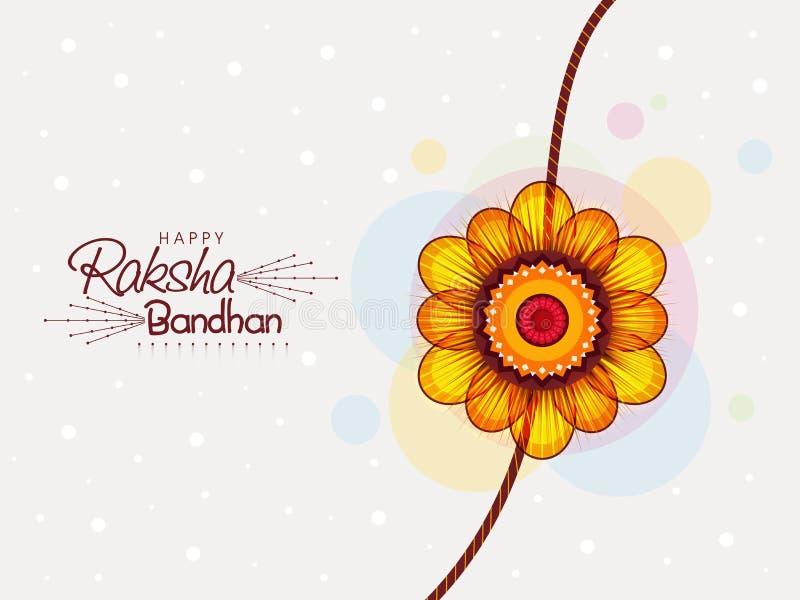 Beau rakhi pour la célébration de Raksha Bandhan illustration de vecteur