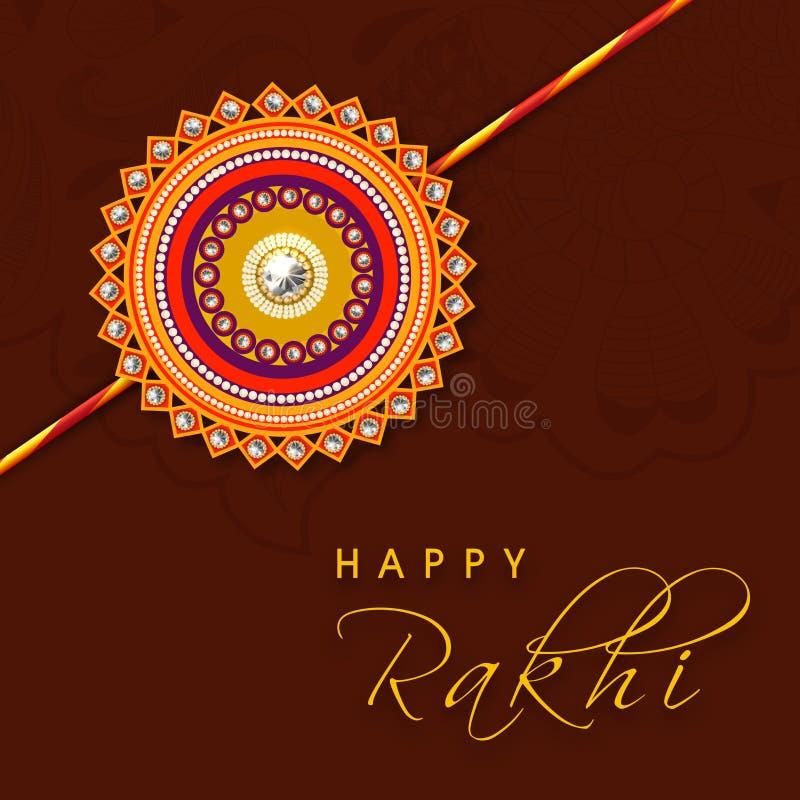 Beau rakhi pour la célébration de Raksha Bandhan illustration stock